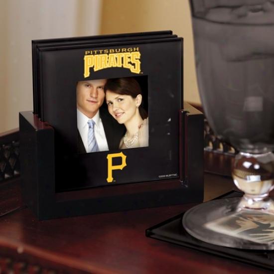 Pittsburgh Pirates Black 4-pack Photo Coaster Set