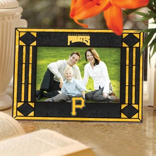 Pittsburgh Pirates Black Art-glass Horizonral Picture Frame