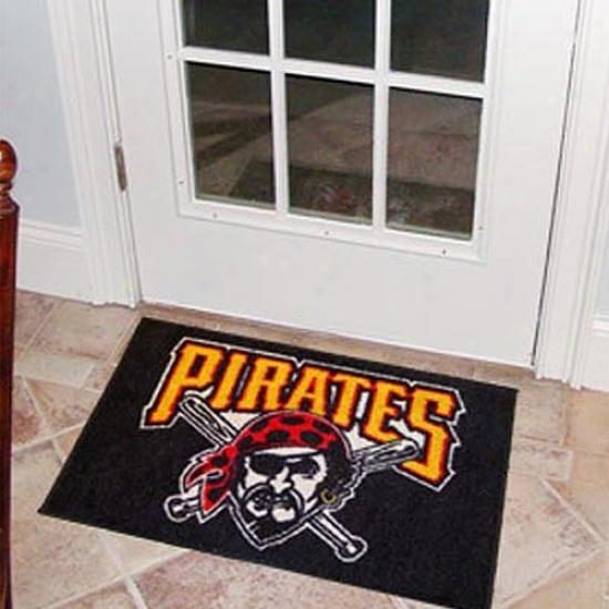 Pittsburgh Pirates Black Logo Starter Mat