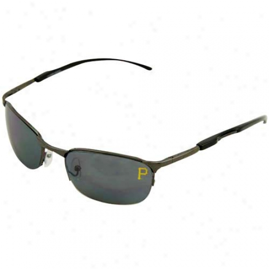Pittsburgh Pirates Black Mlb Metal Sunglasses