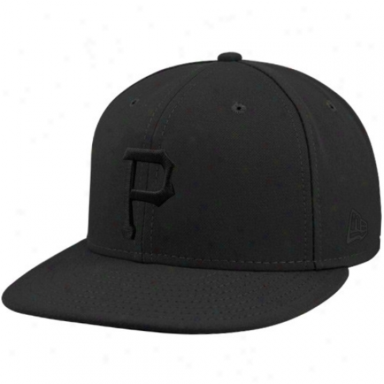 Pittsburgh Pirates Caps : New Era Pittsburgh Pirates Black Tonal 59fifty Fitted Caps