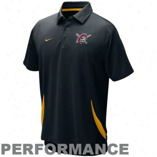 Pittsburgh Pirates Clothing: Nike Pittsburgh Pirates Black Dri-fit Performance Polo
