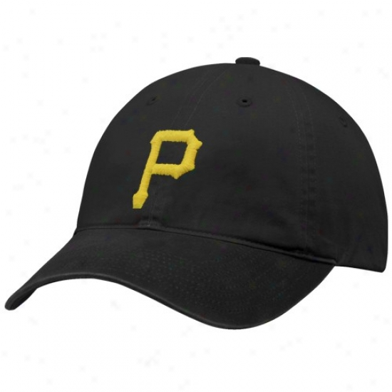 Pittsburgh Pirates Hats : Nike Pittsburgh Pirates Black Relaxed Become Adjustable Hats