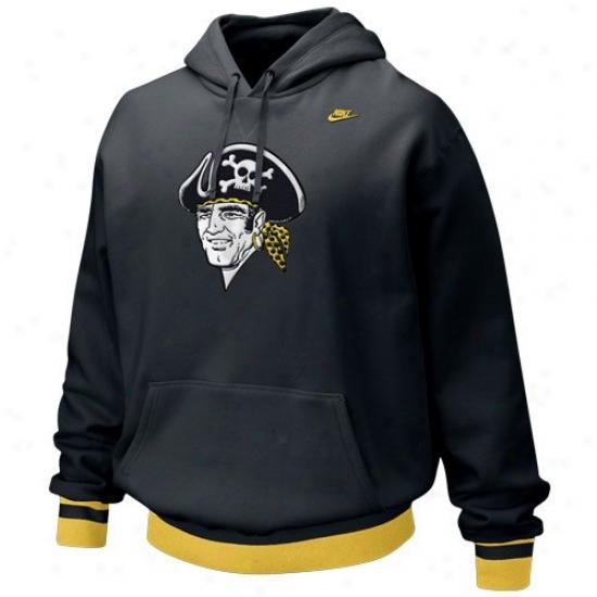 Pittsburgh Pirates Hoodies : Nike Pittsburgh Pirates Black Cooperstown Brushback Hkodies