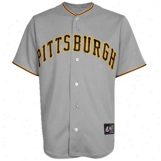 Pittsburgh Pirates Jersey : Majestic Pittsburgh Pirates Replica Jersey-gray
