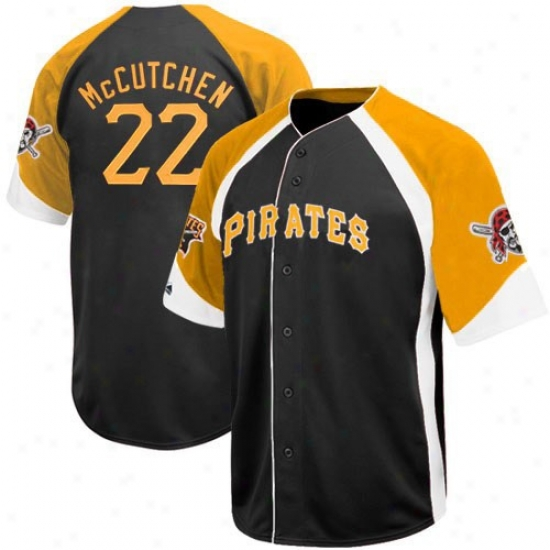 Pittsburgh Pirates Jerseys : August Andrew Mccutchen Pittsburgh Pirates Wheelhouse Re;lica Jerseys - #22 Black