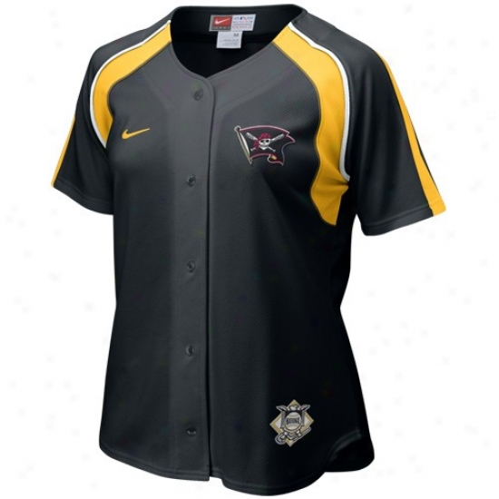 Pittsburgh Pirates Jerseys : Nike Pittsburgh Pirates Black Ladies Home Plate Baseball Jerseys