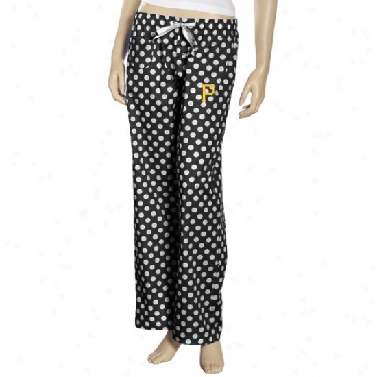Pittsburgh Pirates Ladies Blak Galaxy Pajama Pants