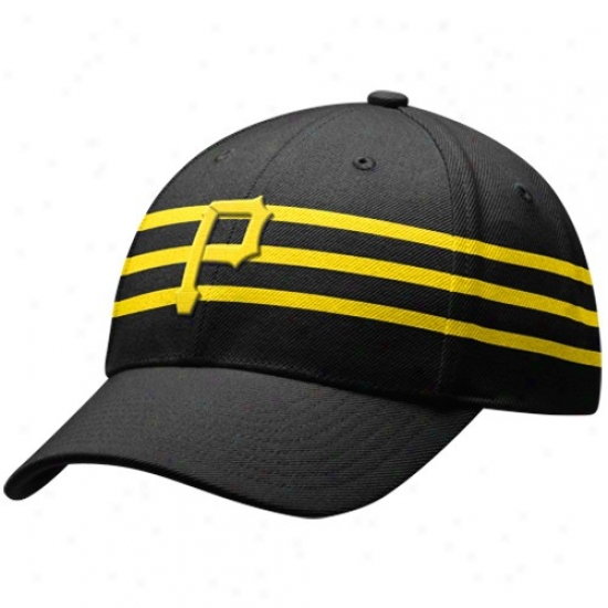 Pittsburgh Pirates Merchandise: Nike Pittsburgh Pirates Black Cooperstown Adjustable Wool Hat