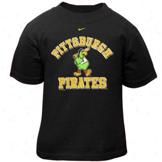 Pittsburgh Pirates Shirts : Nike Pittsburgh Pirates Toddler Black Mascot Shirts