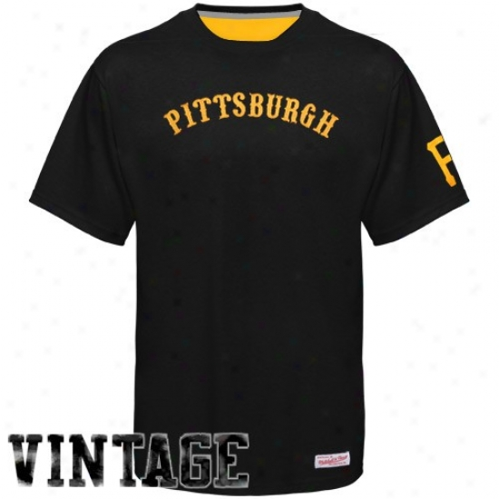 Pittsburgh Pirayes T Shirt : Mitchell & Ness Pittsburgh Pirates Black 1940 Throwback Vintage T Shirt