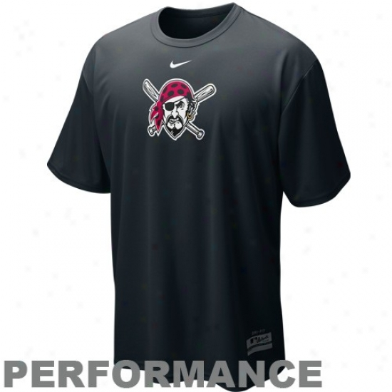 Pittsburgh Pirates Tee : Nike Pittsburgh Pirates Black Nikefit Mlb Logo Accomplishment Tee