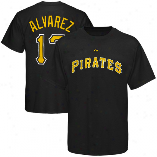 Pittsburgh Pirates Tees : Majestic Pittsburgh Pirates #17 Pedro Alvarez Dismal  Gamester Tees