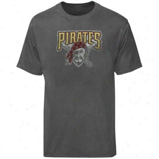 Pittsburgh Pirates Tshirts : Majestic Pittsburgh Pirates Charcoal Big Time Play Tshirts