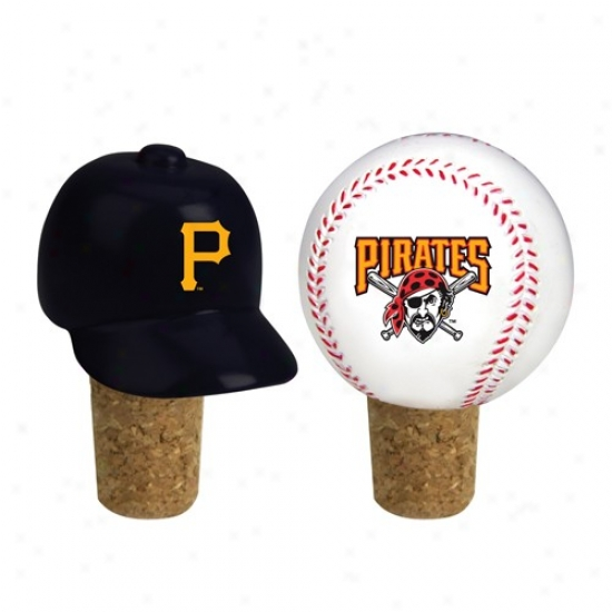 Pittsburgh Pirates Two Pack Bottle Cork Set