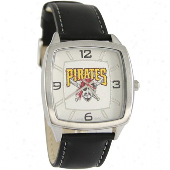 Pittsburgh Pirates Watch : Pittsburgh Pirates Retro Watch W/ Leather Band