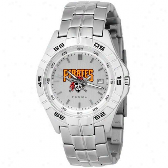 Pittsburgh Pirates Watches : Fossil Pittsburgh Pirates Men's Stainless Steel Analog Mlb Team Logo Watches