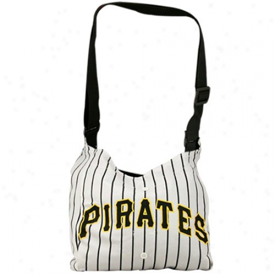 Pittsburgh Pirates White Pinstripe Vetearn Jersey Tote Bag