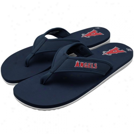 Reebok Los Angeles nAgels Of Anaheim Navy Blue Summertime Flip Flops