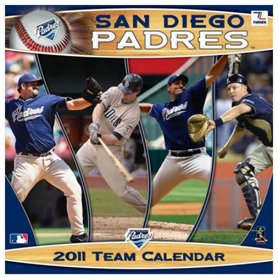 San Diego Padres 2011 Wall Calendar