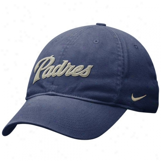 San Diego Padres Gear: Nike San Diego Padres Navy Blue Getaway Day Relaxed Swoosh Flex Hat