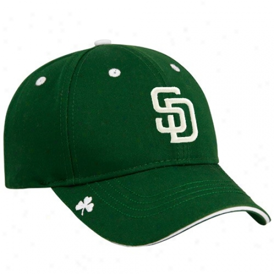 San Diego Padres Hat : New Era San Diego Padres Kelly Green Hooley St. Patrick's Day Adjustable Hat
