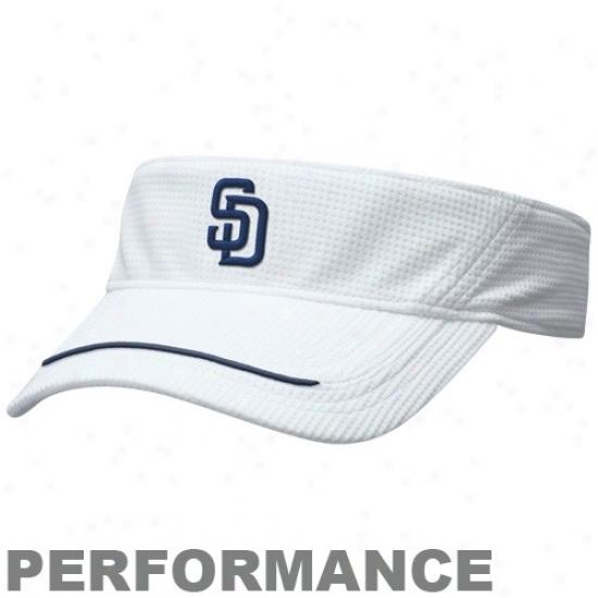 San Diego Padres Hat : Nike San Diego Padres White Nikefit Performance Visor