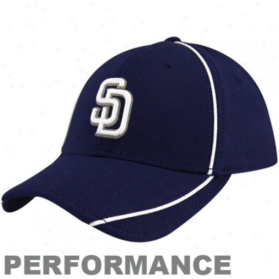 San Diego Padres Hats : New Era San Diego Padres Youth Navy Blue Batting Practice 39thirty Acting Flex Fit Hats