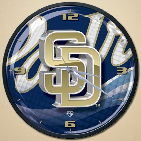 San Diego Padres High Definition Wall Clock
