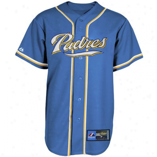 San Diego Padres Jerseys : Majestic San Diego Padres Light Blue-gold City Colors Fashion Baseball Jerseys