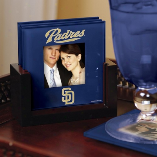 San Diego Padres Navy Blue 4-pack Photo Coaster Set