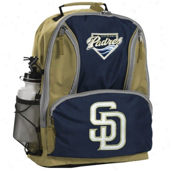 San Diego Padres Navy Blue-gold Team Logo Backpack