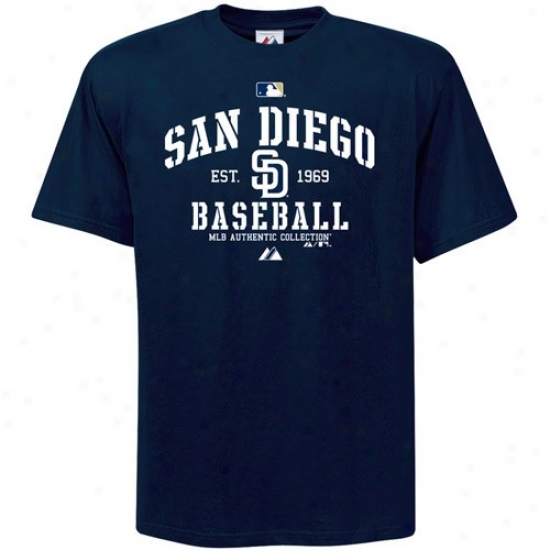 San Diego Padres Shirts : Majestic San Diego Padres Youth Navy Pedantic  Ac Classic Shirts