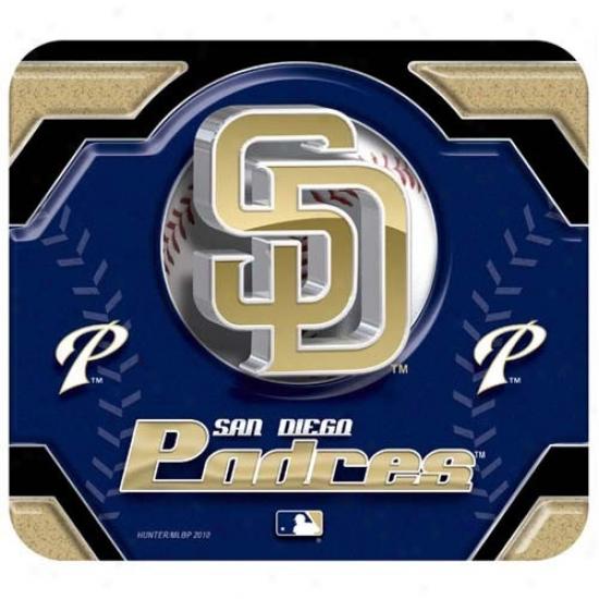 San Diego Padres Team Logo Neoprene Mousepad