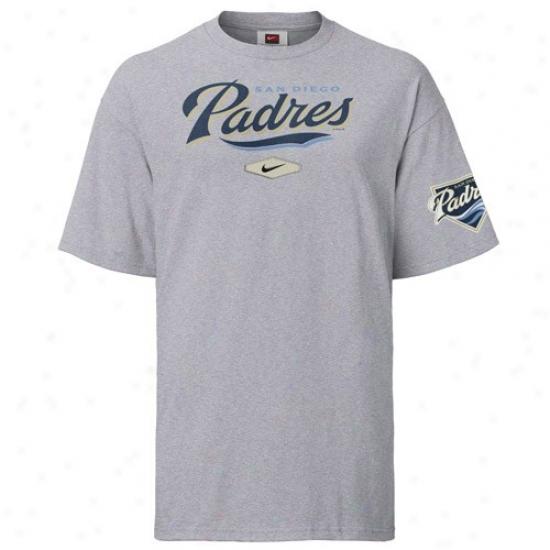 San Diego Padres Tees : Nike San Diego Padres Ash Youth Practice Tees