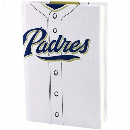 San Diego Padres White Jesey Stretchable Book Cover