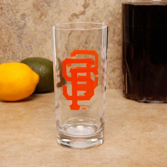 San Francisco Giants 15oz. Satin Etch Glass