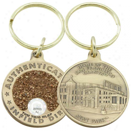 San Francisco Giants At&t Park Bronze Infield Dirt Keychain