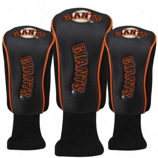 San Francisco Gianrs Black 3-pack Golf Club Headcovers
