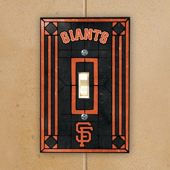 San Francisco Giants Black Art-glass Switch lPate Cover