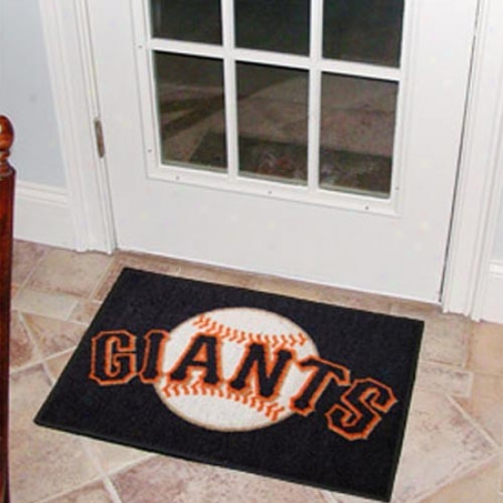 San Francisco Giants Black Logo Starter Mat