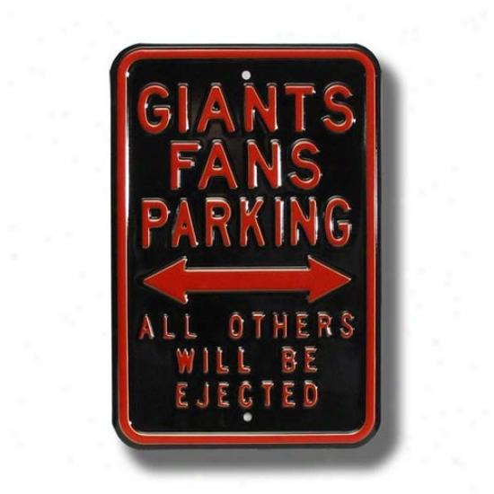 San Francisco Giants Dark Parking Sign