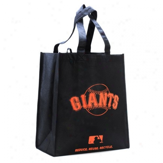 San Francisco Giants Black Reusable Tote Bag