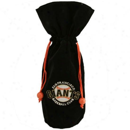San Francisco Giants Black Velvet Wine Bottle Bag