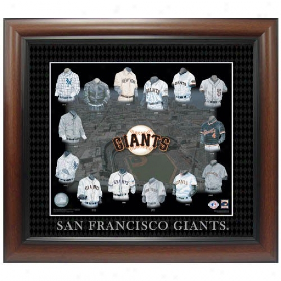San Francisco Giants Evolution Of The Team Uniform Framed Picture