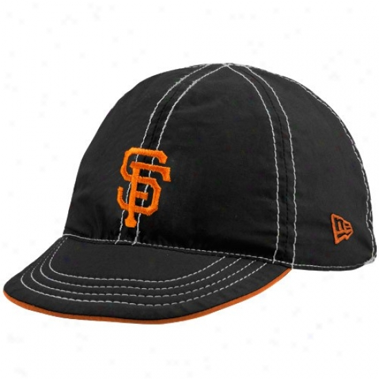 San Francisco Giants Gear: New Era San Francisco Giants Infant Black-orange Mesa Flip Reversible Hat