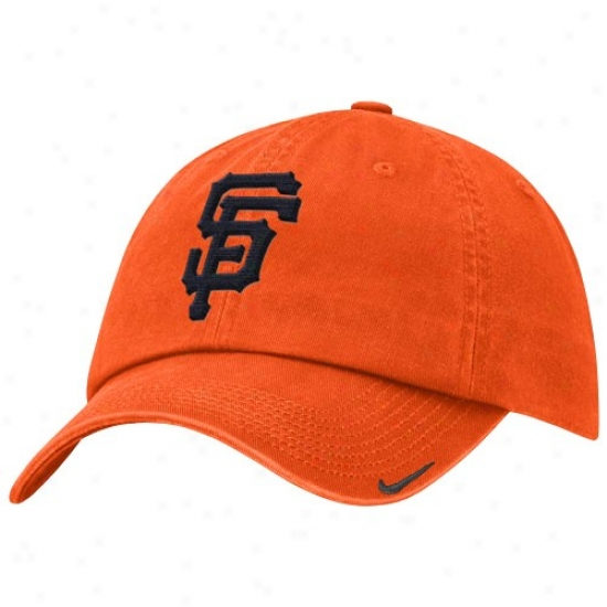 San Francisco Giants Gear: Nike San Francisco Giants Orange Stadium Adjustable Hat