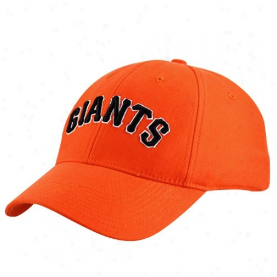 San Francisco Giajts Hats : Nike San Francisco Giants Orange Swoosh Flex Fit Hats