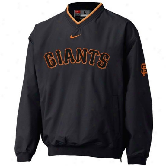 San Francisco Giants Jerkin : Nike San Francisco Giants Black Staff Ace Pullover