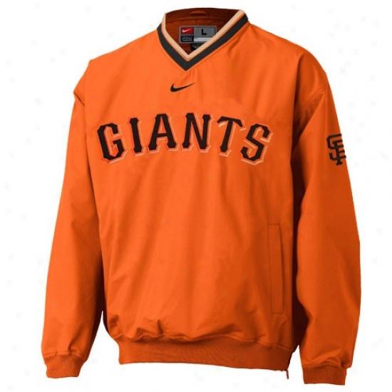 San Francisco Giants Jackets : Nike San Francisco Giants Orange Staff Ace Windshirt